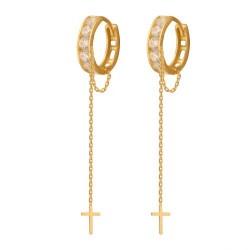 Złote kolczyki koła wzór-43407