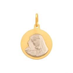 Złoty medalik,krzyżyk wzór-43782