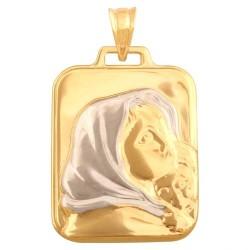 Złoty medalik,krzyżyk wzór-43923