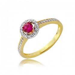 Złoty pierścionek z owalem z cyrkonii