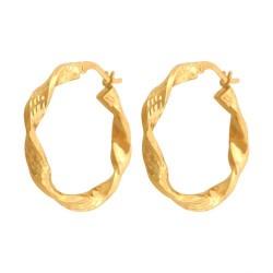 Złote kolczyki koła wzór-44091