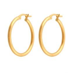 Złote kolczyki koła wzór-44109