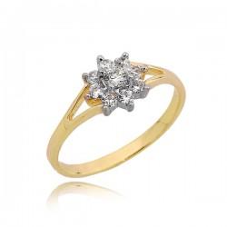 Złoty pierścionek gwiazdka