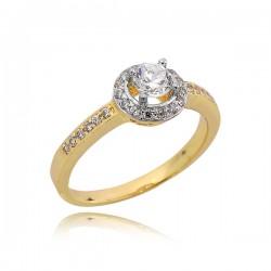 Elegancki pierścionek ze złota