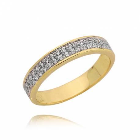 Minimalistyczny złoty pierścionek z cyrkoniami