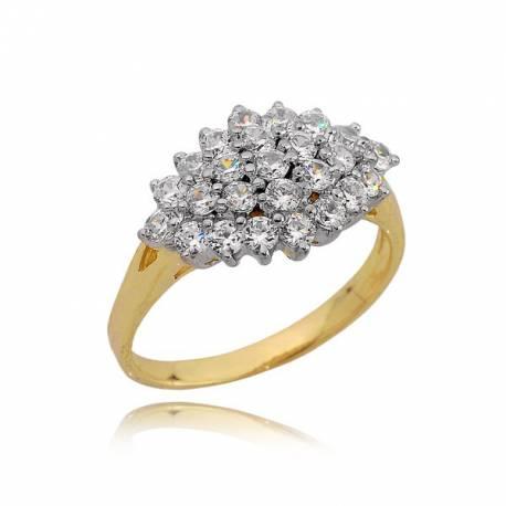 Złoty pierścionek, cyrkonie