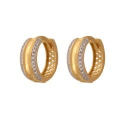 Złote kolczyki koła wzór-44488