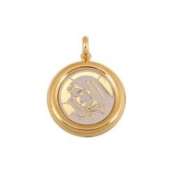 Złoty medalik,krzyżyk wzór-44917