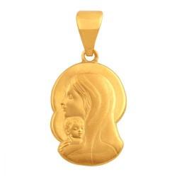 Złoty medalik,krzyżyk wzór-39560