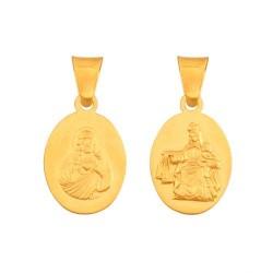 Złoty medalik,krzyżyk wzór-43594