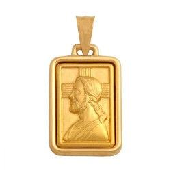 Złoty medalik,krzyżyk wzór-29866