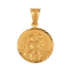 Złoty medalik,krzyżyk wzór-44987