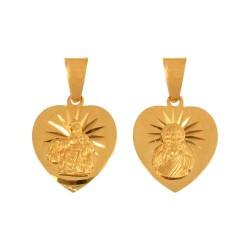 Złoty medalik,krzyżyk wzór-44990