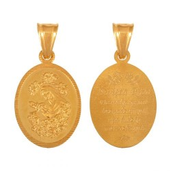 Złoty medalik,krzyżyk wzór-44992
