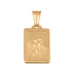 Złoty medalik,krzyżyk wzór-44994