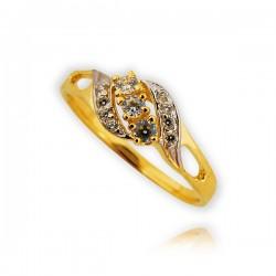 Pieścionek złoty P1505