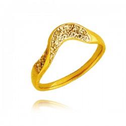 Złoty damski pierścionek P1442