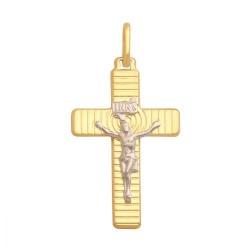 Złoty medalik,krzyżyk wzór-34539