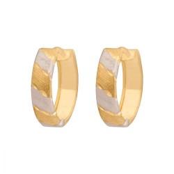 Złote kolczyki koła wzór-Kv050