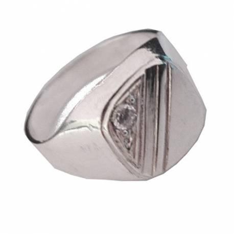 Srebrny sygnet z cyrkonią