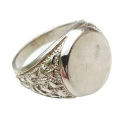Srebrny sygnet,owalny-klasyczny męski wzór 0,925