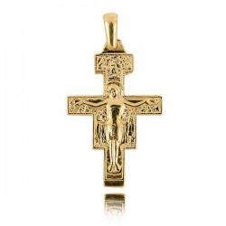 Wisiorek,złoty krzyżyk KR13