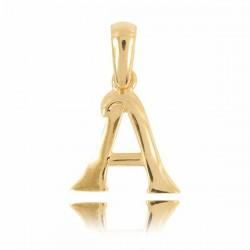 wisiorek,złota literka A