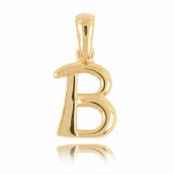 Wisiorek,złota literka B