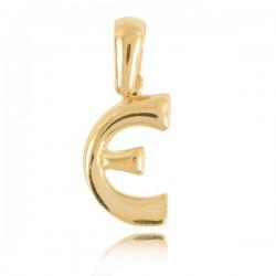 Wisiorek,złota literka E