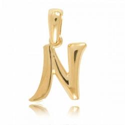 Wisiorek,złota literka N