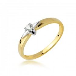 Pierścionek zaręczynowy,złoty model PB269