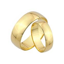 Obrączki złote,klasyczne półokrągłe 6mm