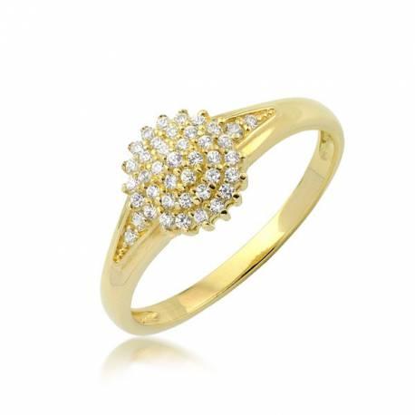 Złoty pierścionek model P1931