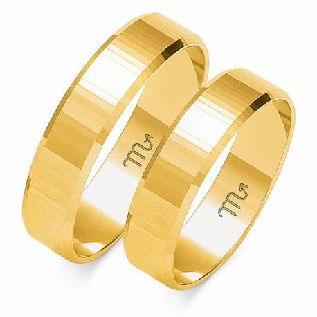 Złote obrączki wzór O-102