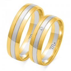 Złote obrączki wzór OE-11