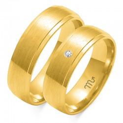 Złote obrączki wzór O-44