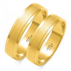 Obrączki złote model O-16