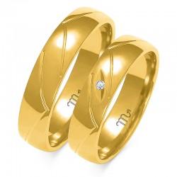 Obrączki złote model A-138