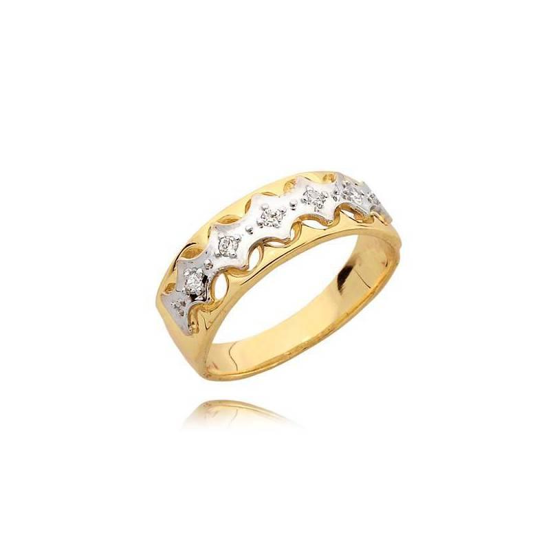 5df5b4283d722e Złoty pierścionek z białym złotem i cyrkoniami > Sklep Jubiler Cieszyn