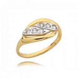 Złoty pierścionek N16