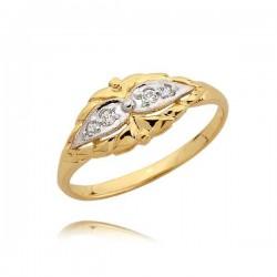 Zaręczynowy pierścionek z białymi złotem