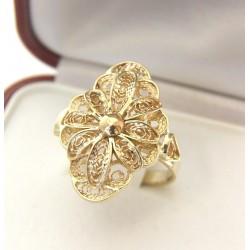 Złoty pierścionek,filigranowy