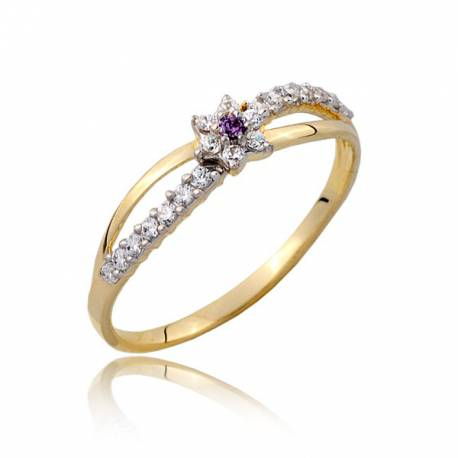 Złoty pierścionek P1809