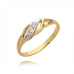Zareczynowy pierścionek z cyrkoniami-N48