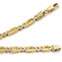 Złoty gruby łańcuszek,żółte i białe złoto
