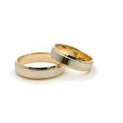 Obrączki z białego i żółtego złota-diamentowane.