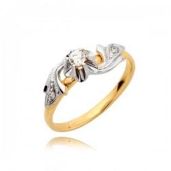 Zaręczynowy pierścionek z białego i żółtego złota