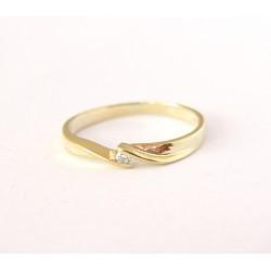 Złoty pierścionek z brylantem 0,03ct,żółte złoto