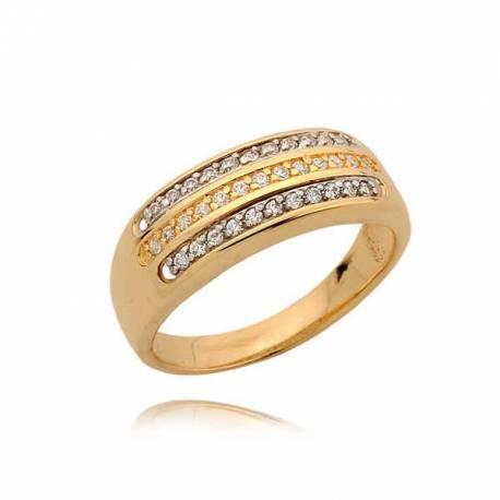 Efektowny pierścionek z cyrkoniami