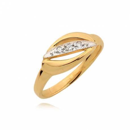 Efektowny złoty pierścionek